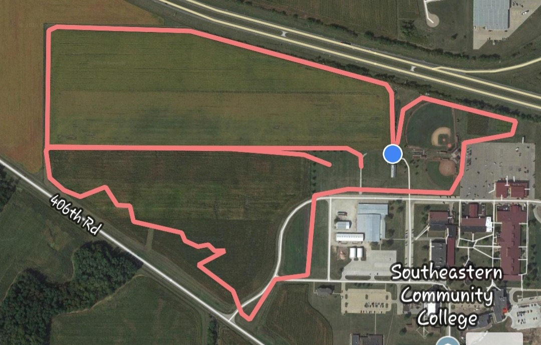 Map of the dirty hawk dash mud run